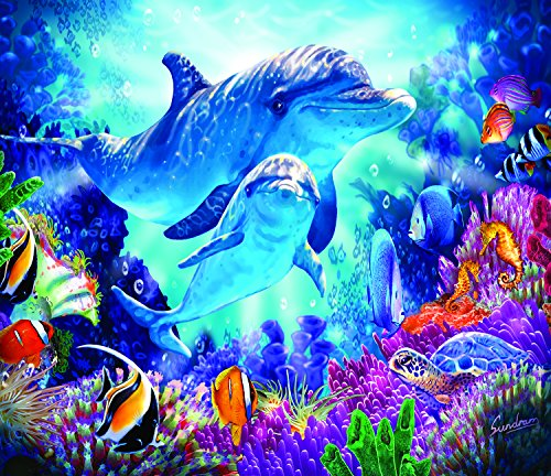 SunsOut Dolphin Family 200 Piece Jigsaw Puzzle