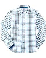 Egg by Susan Lazar Little Boys' Check Button Down Shirt (Toddler/Kid)