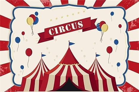 EdCott 5x3 pies Poliéster Circo Fondo de Fiesta Parque ...