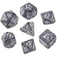 Classic RPG Dice Set Smoky & White (7) Workshop Giochi Tavolo Accessori