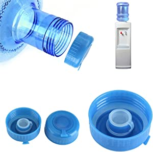 5Pcs PC bucket screw cap rubber ring smart cover,Fit for 5.5cm outlet water bottle with screw thread,Blue Bottle Caps for Screw Top Bottles,durable