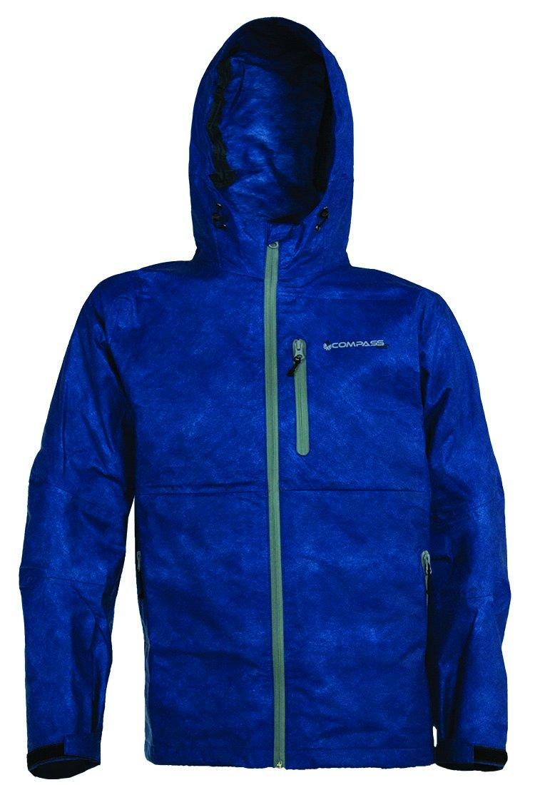 コンパス360 Protek不織布t50防水雨ジャケット B01KW4DT3I XL|ブルー ブルー XL