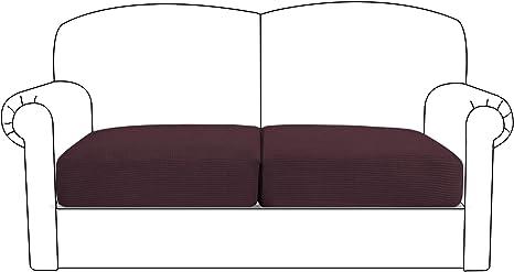 Sofa Sitzkissenbezug Sitzkissenschutz Stretch Couch Sofasitzbezug 1//2//3 Sitzer