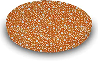 product image for SheetWorld Fitted 100% Cotton Percale Oval Crib Sheet, Fits Stokke Sleepi 26 x 47, Confetti Dots Orange, Made in USA