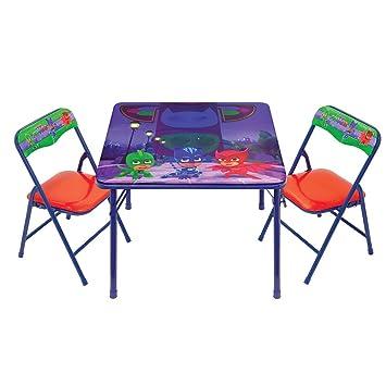 PJ Masks Activity Table Set  sc 1 st  Amazon.com & Amazon.com: PJ Masks Activity Table Set: Kitchen u0026 Dining