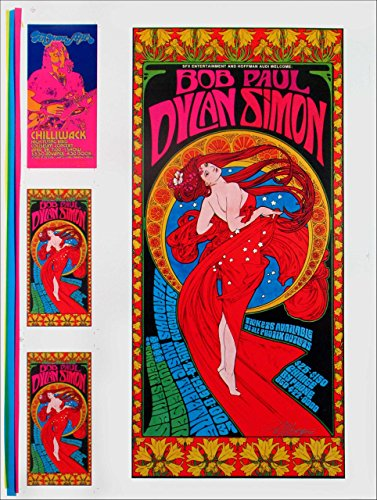 Bob Dylan Paul Simon Concert Poster 1999 Rare Original Uncut Printer S Proof With Handbills Hand Signed By Bob Masse