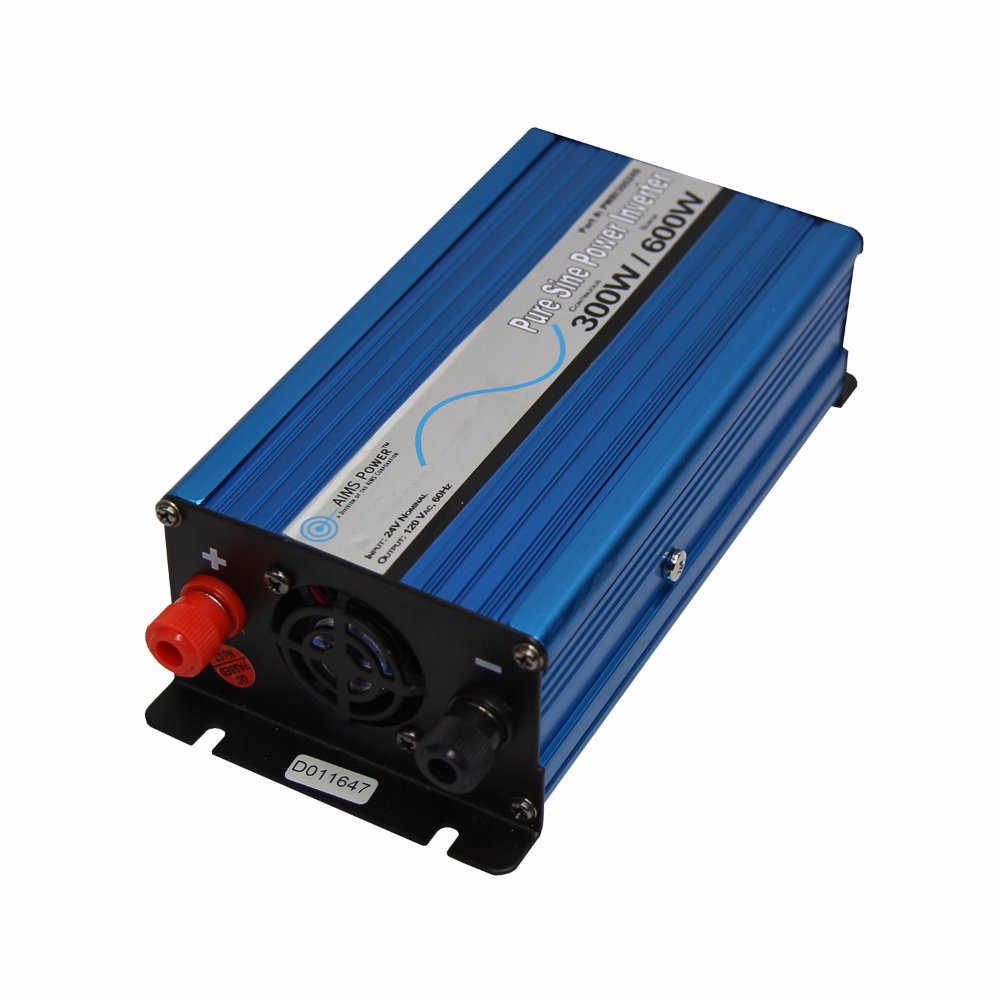 AIMS Power PWRI30024S 300W 24V Pure Sine Power Inverter with Cables