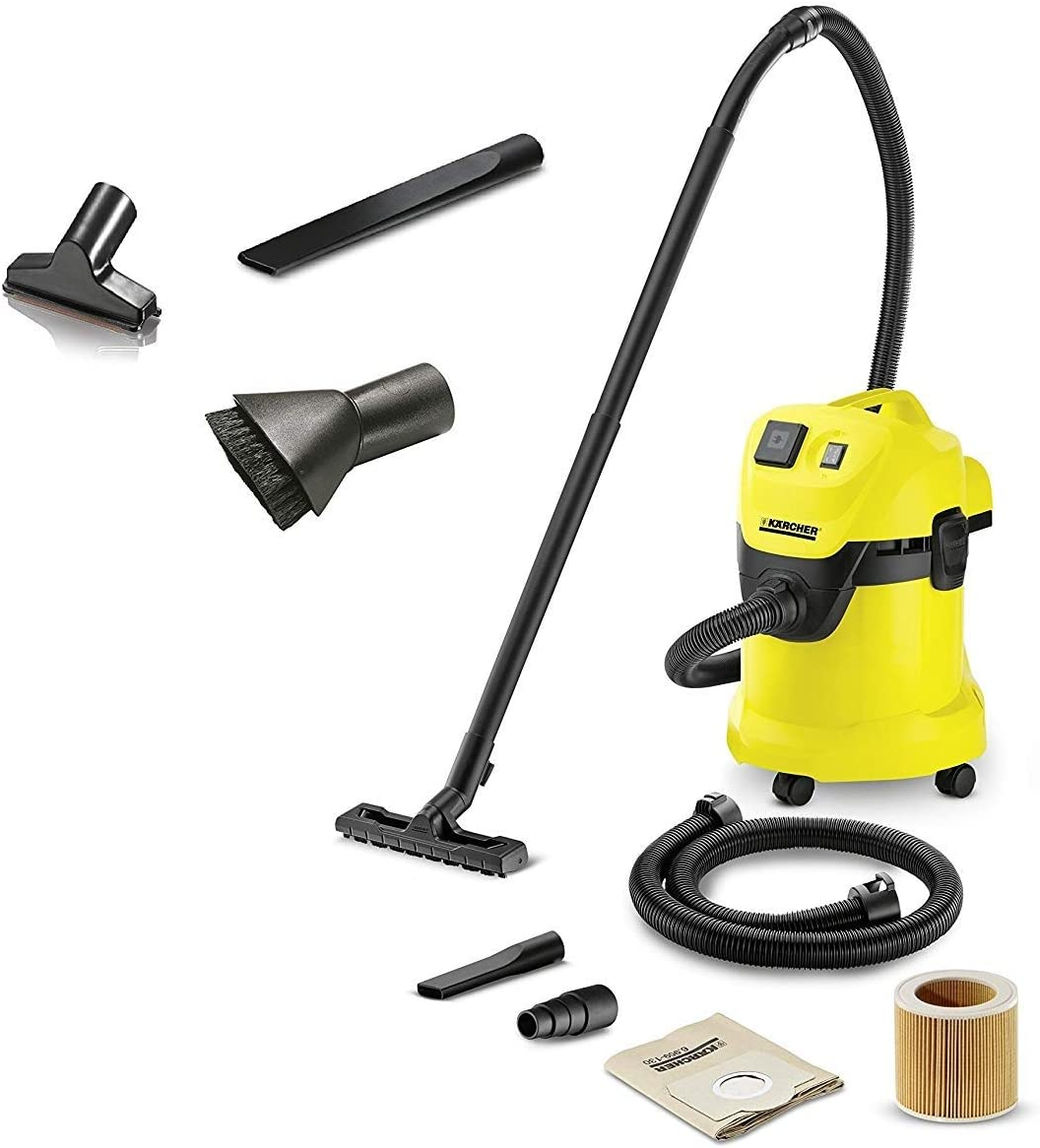 Karcher Aspiradora multiusos MV/WD 3 P Extension Kit 1.629 – 885.0 Incluye Set007 compuesto de boquilla extra larga, pincel & Boquilla de aspiración: Amazon.es: Jardín