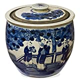China Furniture Online Vintage Porcelain Blue and White Rice Jar