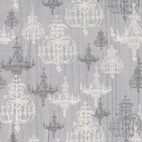 """Shabby Chic 43"""" Wide 100% Cotton 10Yd D/R-Silver Chandelier"""