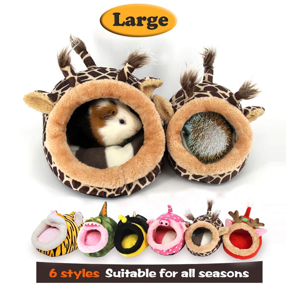 MYIDEA Guinea Pig Bedding/Bed Nest - Hedgehog House, Lizard Nest,Squirrel,Chinchillas & Small pet Animals Hideout/Cube, Habitat, Lightweight, Durable, Portable, Cushion Big Mat (L, Giraffe) by MYIDEA