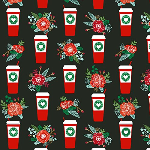 coffee-fabric-christmas-peppermint-latte-candy-cane-holly-cute-coffee-latte-christmas-peppermints-by