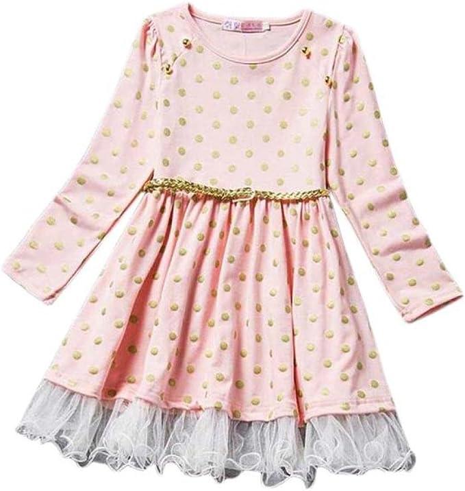 1PC Girls Kids Fashion Girls Long Sleeve Princess Dress Hollow Flower Girl Dress Clode for 2-8 Years Old