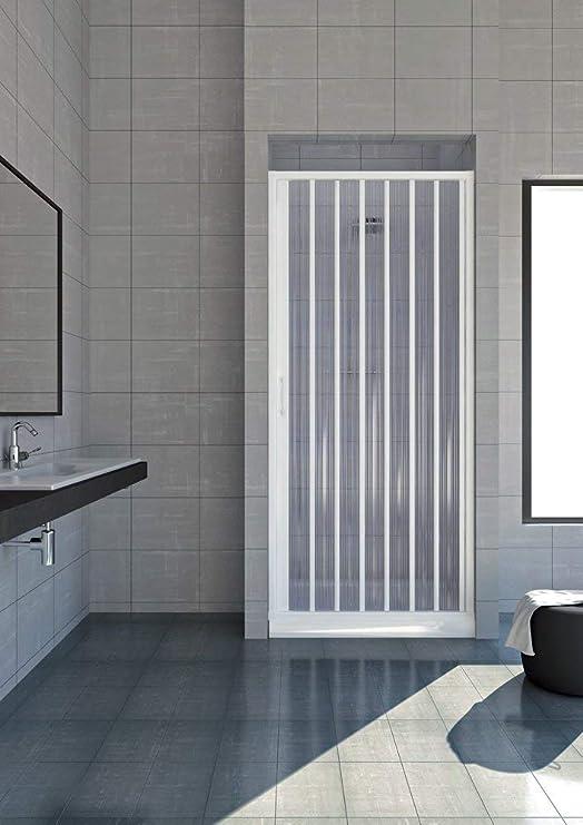 chiusura pacchetto in pvc bianco FREE Box porta doccia un lato a soffietto laterale 60-80 cm
