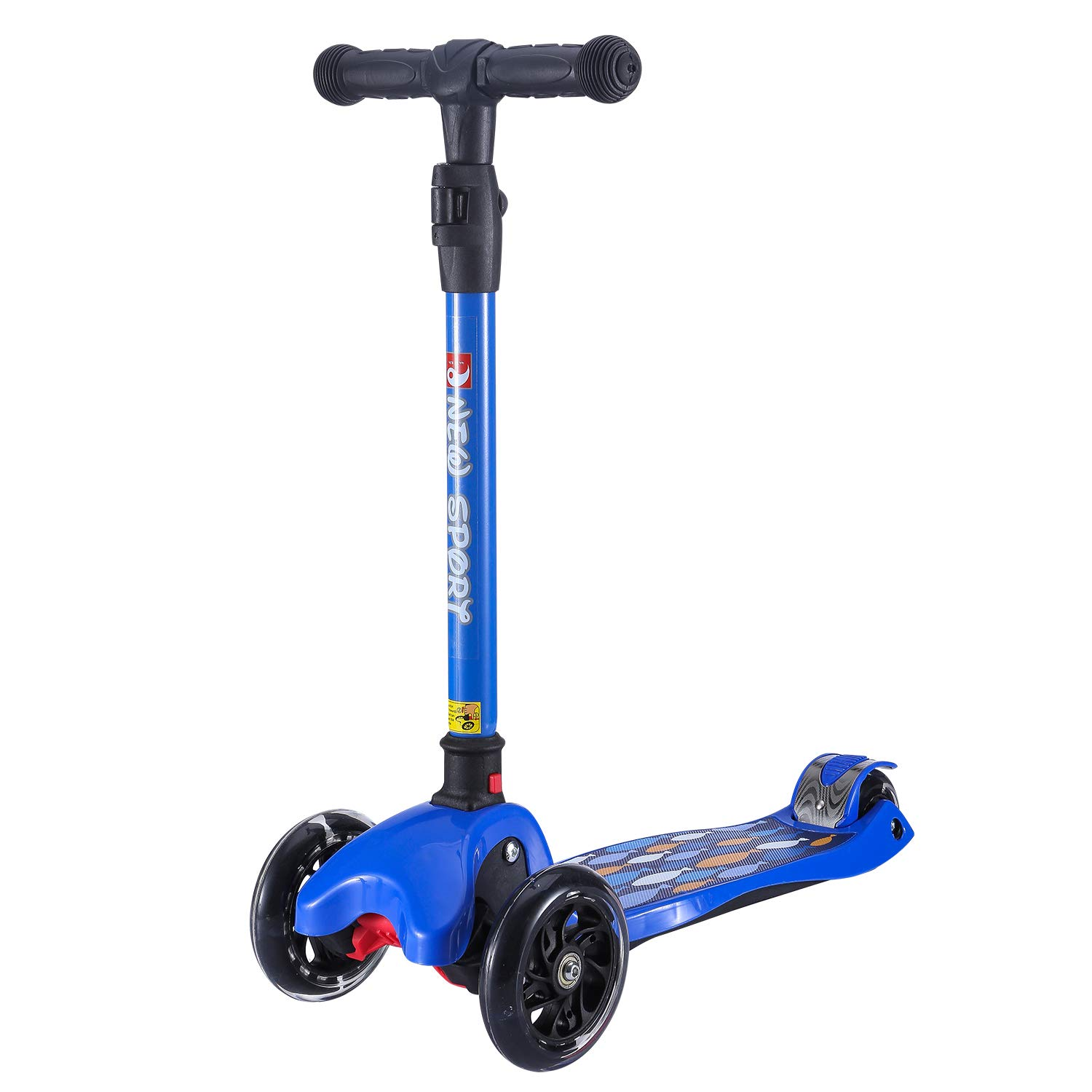 New Olym Kids Scooters 3 Wheel for Girls&Big Boys Toddlers, 4 Adjustable Height Flashing Wheels Scooter with Extra Wide Deck Safety Brake|Foldable System Ride Scooter for Children Ages 3-12 by New Olym