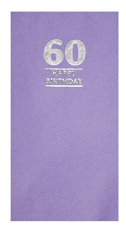 Paquete de 20 servilletas de feliz cumpleaños de color lila ...
