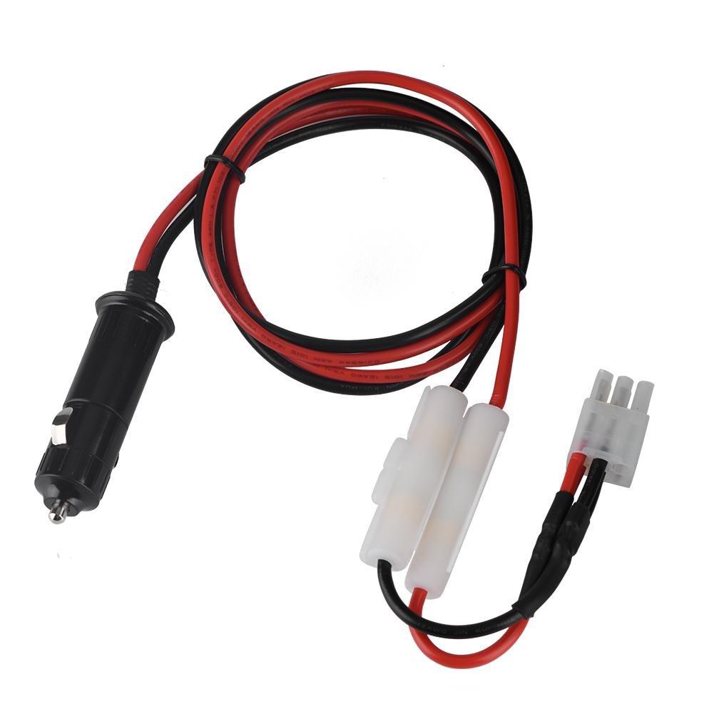 Zerone Cable del Cable de alimentació n del Encendedor de Cigarrillos 12V para Yaesu FT-857D FT-897D Radio ICOM IC-725A