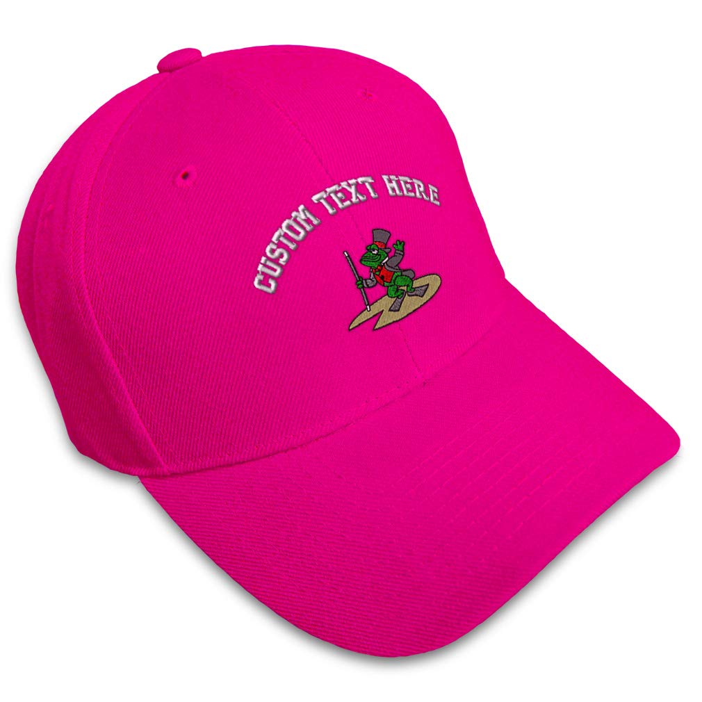 Custom Baseball Cap Dancing Frog Embroidery Acrylic Dad Hats for Men /& Women