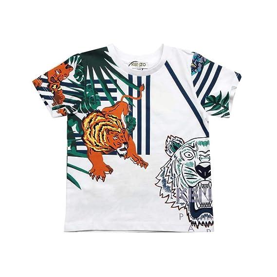 e91f382d Kenzo Kids Hawai T-Shirt Bambino Baby Boy Mod. KN10608: Amazon.co.uk ...