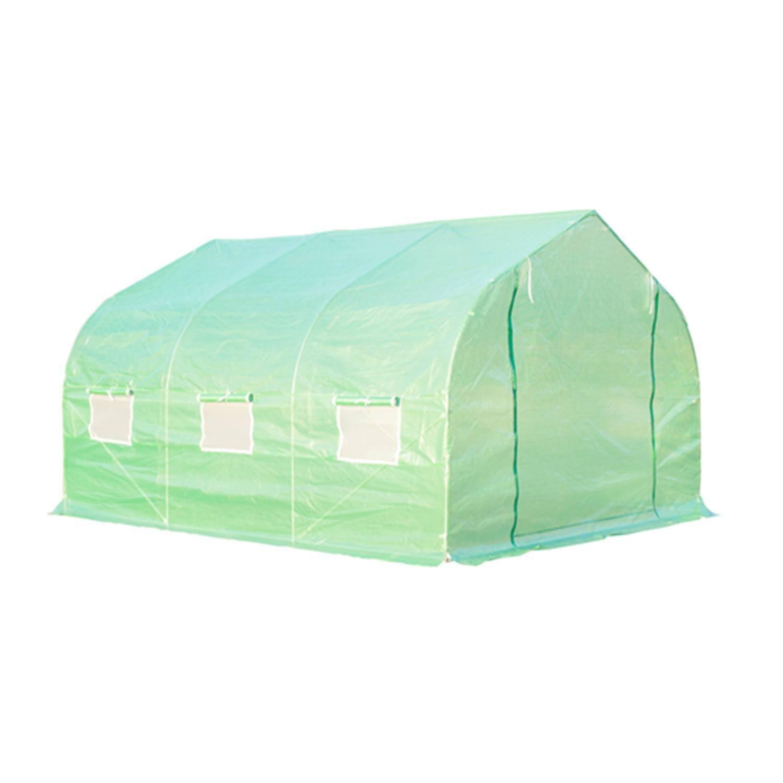 Olymstore Walk en casa verde redondo pico de efecto invernadero caseta totalmente cerrada: Amazon.es: Jardín