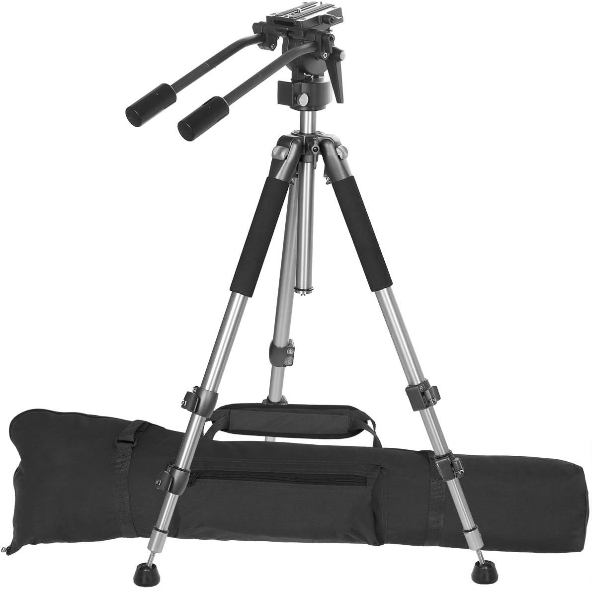 Ravelli AVT 170cm - Trípode profesional de video con cabezal fluido y bolsa de transporte