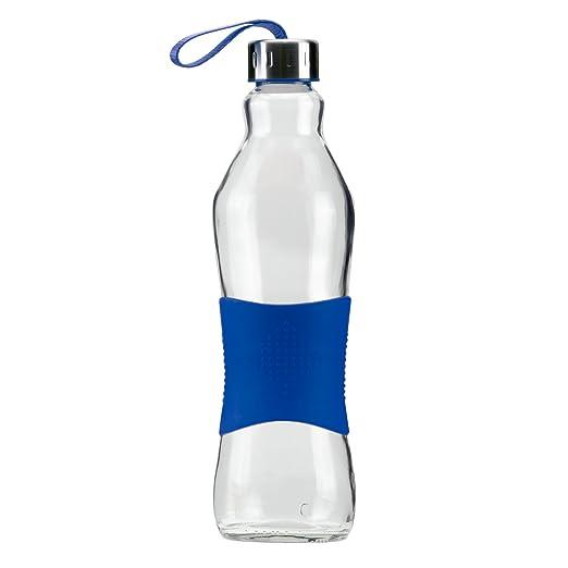 Grip & Go Botella de vidrio para beber/ para nevera 1.0L - Tapa de ...