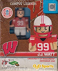 Wisconsin Badgers Campus Legends J.J. Watt OYO Figure