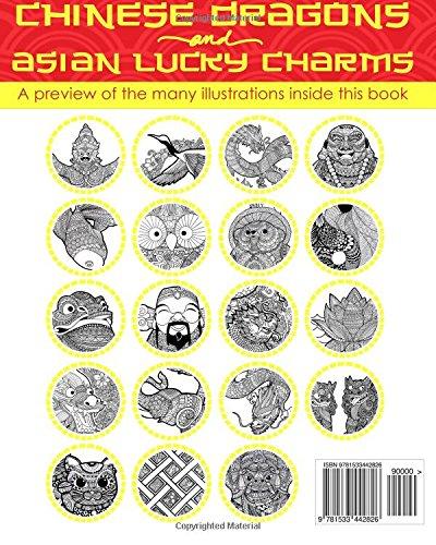 Amazon.com: ANTIESTRES Libro De Colorear Para Adultos: Dragones Chinos Y Amuletos De La Suerte De Asia (Mandala De La Arte-Terapia Para Relajación, ...