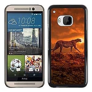 TopCaseStore / la caja del caucho duro de la cubierta de protección de la piel - Orange African Animal - HTC One M9