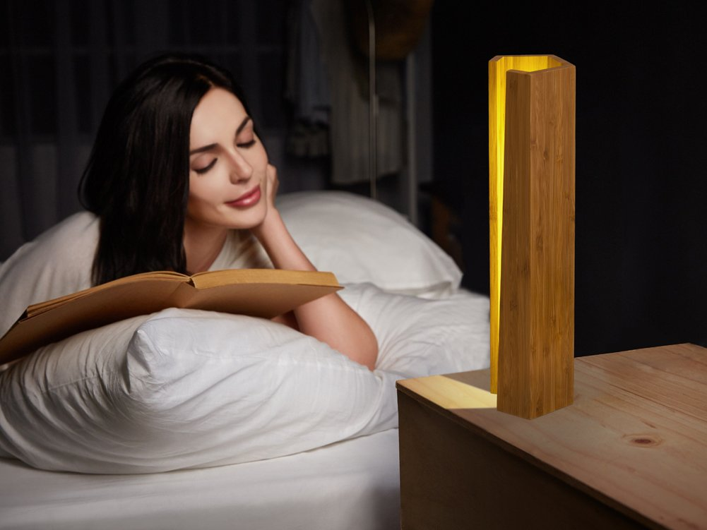 ChasBete LED Night Lamp Wooden Dimmable Bedside Lamp for Bedroom Living Room Decor Warm Classical Table Lamp Desk Night Light by ChasBete (Image #3)