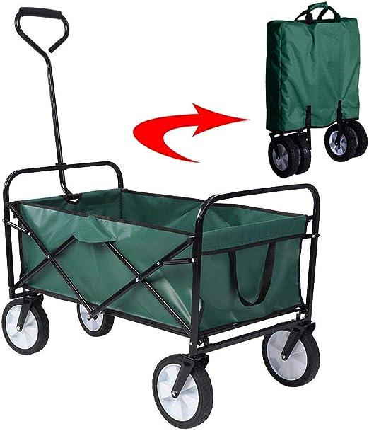 Acyon Carrito Plegable Carro de Herramientas Deportivas al Aire Libre Carretilla de Transporte de Cámping Jardín de Servicio Pesado Camión de Mano de Festival,80 kg de Capacidad,D:Green: Amazon.es: Hogar