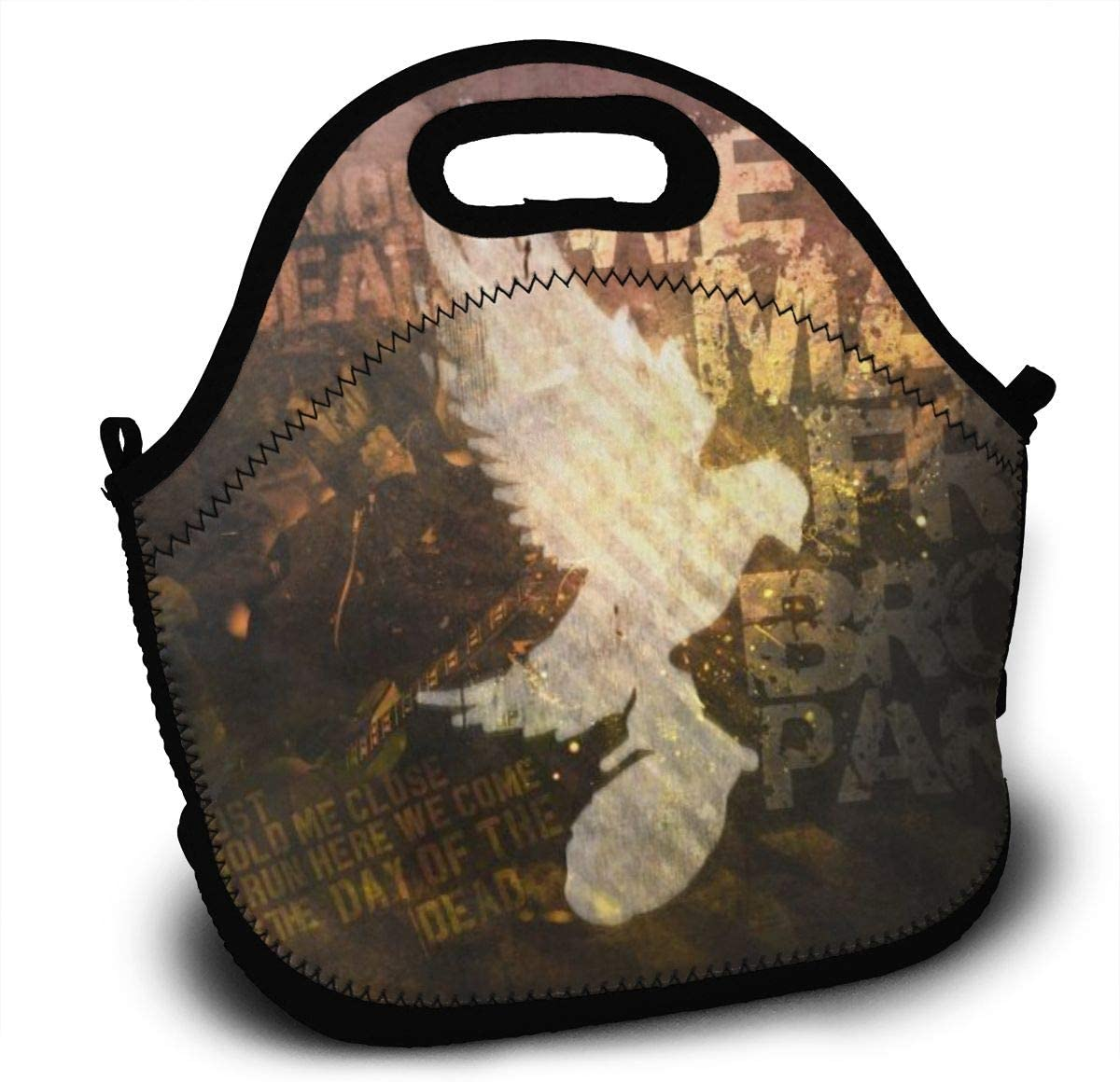 Hollywood Undead Dove And Grenade-Lunch Tote Thick Reusable Insulated Thermal Lunch Bag Small Lunch Box Handbags Tote With Zipper For Adults Kids Nurse Teacher Work Outdoor Travel Picnic