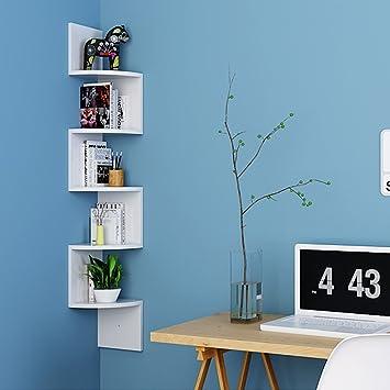 homfa estanteras de pared juego de 5 estantes para libros blanco mdf 2020 - Estantes De Pared