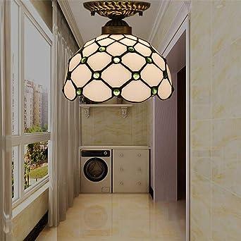 Retro Europea 6 pulgadas de la lámpara de techo Foyer pasillo Escalera Ventana Guardarropa Balcón Cocina Y Lámpara baño de vidrio corredor de techo Lámpara creativa europea techo de la habitación Foye: