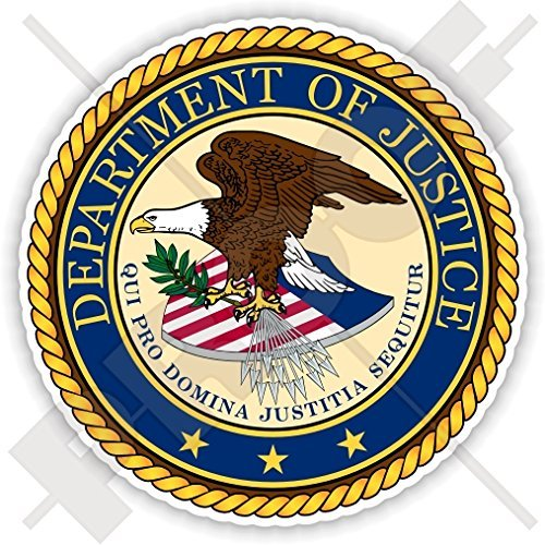 US DEPARTMENT OF JUSTICE Seal DOJ United States of America USA, American 90mm (3.5