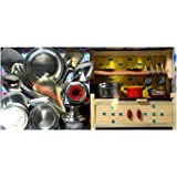 Stainless Steel Role Play set with small wooden stand