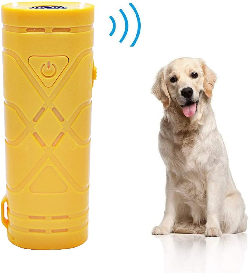 7Mohugme geführt Ultrasonic Hund Repeller und Trainer Device 3 bei 1 Anti Barking Stopp Bark Handheld Hund Training Device