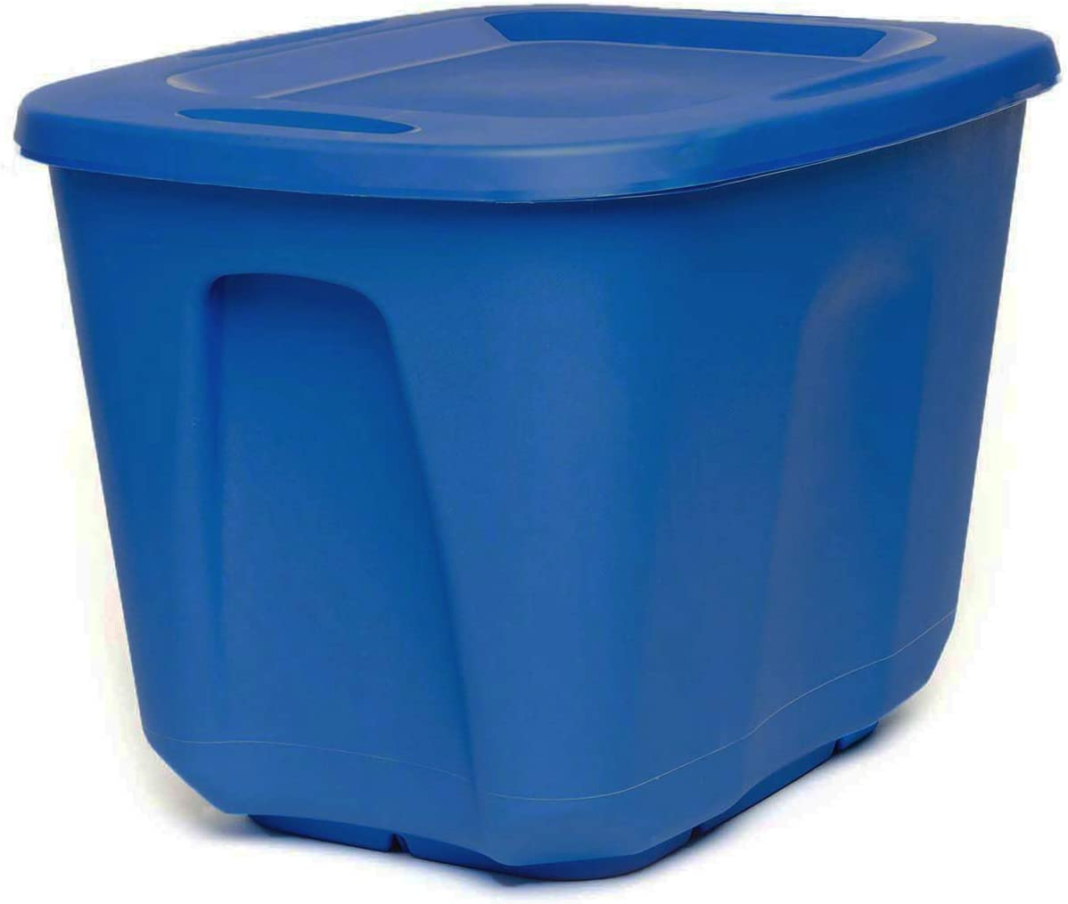 HOMZ Plastic Container 10 Gallon Storage, Blue, 4 Pack