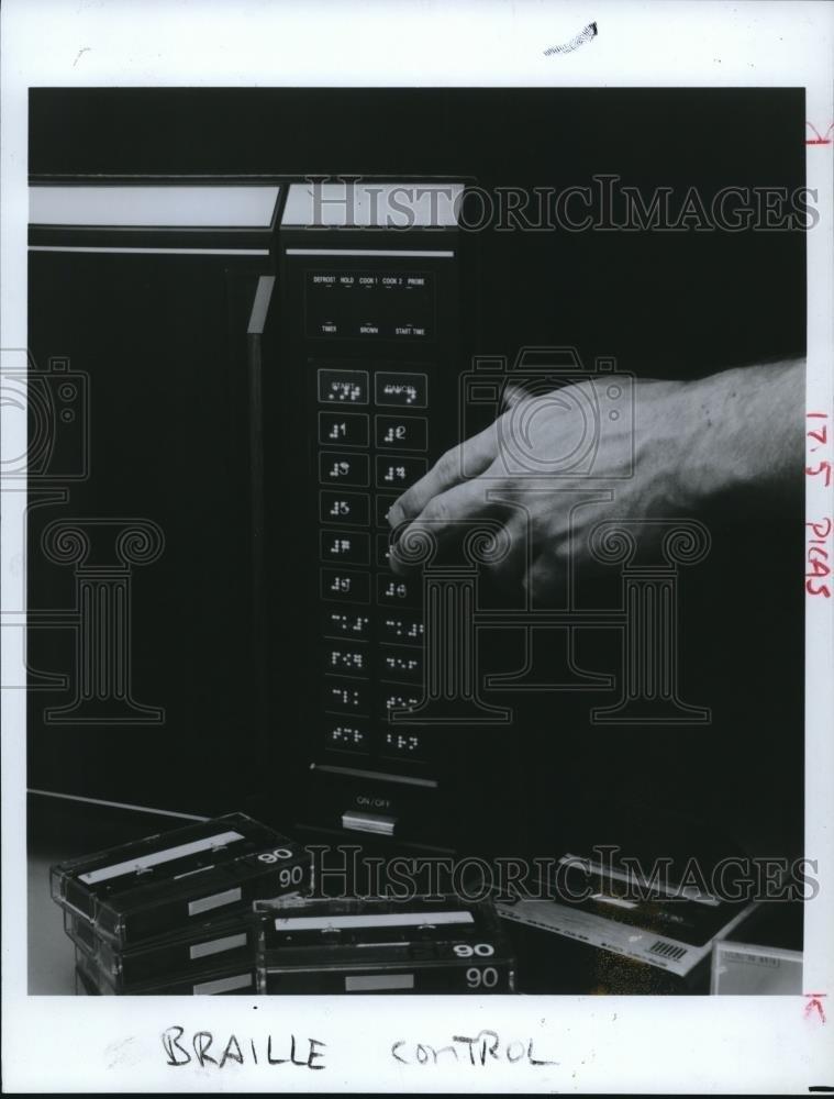 1985 prensa fotos autoadhesivo braille plantilla para microondas ...