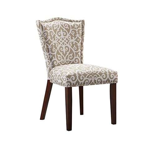 Astounding Madison Park Nate Dining Chair Set Of 2 Taupe See Below Theyellowbook Wood Chair Design Ideas Theyellowbookinfo