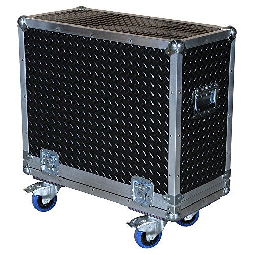 Amplifier 3/8 Ply ATA Case with Diamond Plate Laminate Fits Fender 65 Deluxe Reverb (65 Amp Reverb Cover Deluxe)