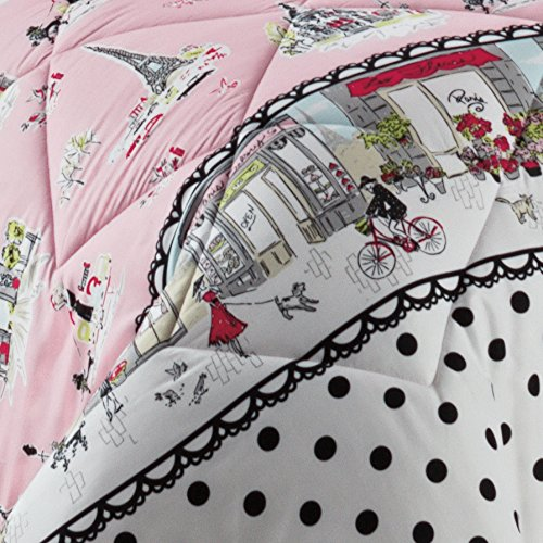 WAVERLY Kids Ooh La Reversible Bedding Collection, Full, Multicolor by WAVERLY (Image #1)