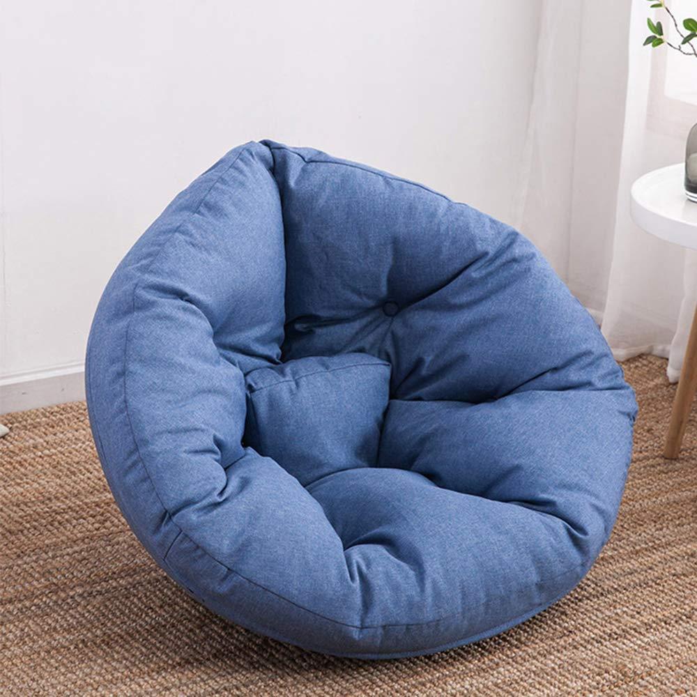 Relubby Divano A Pavimento Pigro, Alta Elasticità Ultra Soft Splicable Comprimibile,blu,S
