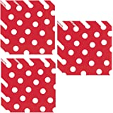 Red Polka Dot Luncheon Napkins - 48 Pieces by Unique