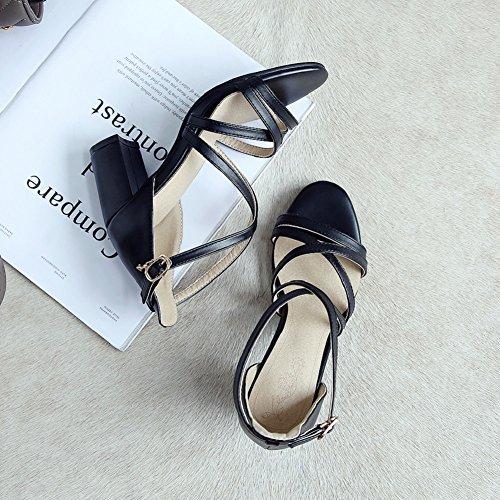 Talon Peep Bloc Noir Chaussures Sandales Mariage De Partie Milieu De Bas De De Sandales De Dames Femmes Été Haut Bal Toe Yorwor 4TUq5T