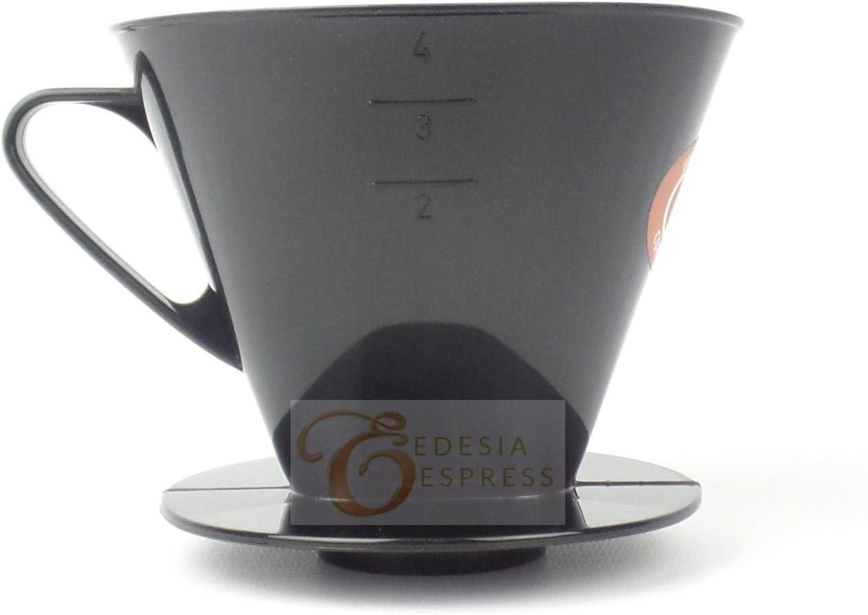 Tama/ño 6 Cono de goteo reutilizable Para preparar caf/é con filtros de papel EDESIA ESPRESS Pl/ástico