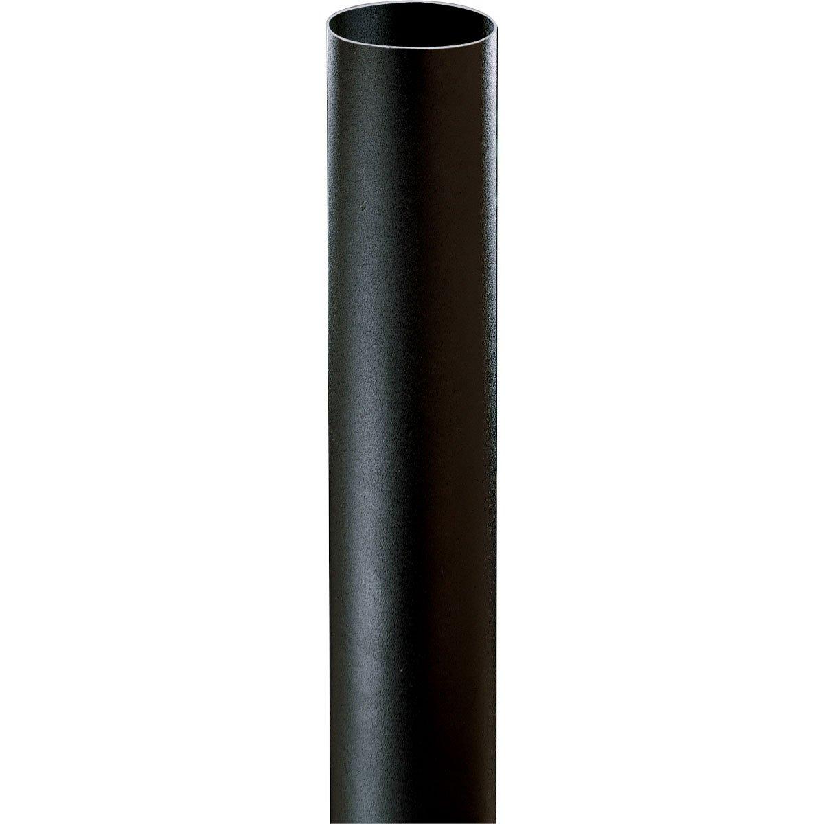 Progress Lighting P5313-31 Black Bollard Shown with P5205-31 Light (Order Separately), Black