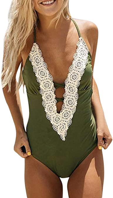 Aiserkly Fashion Women's Ladies Vintage Lace Bikini Sets Beach Comfortable Swimwear Bathing Suit: Amazon.co.uk: Clothing