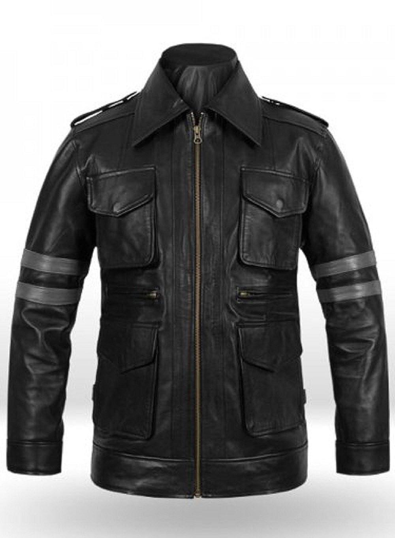 NBENTERPRISES Genuine Resident Evil 6 Leon Kennedy Leather Jacket NBE-11021