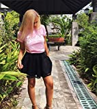 Soft Tshirts for Women Cool Barbie T Shirt Basuc Novelty Tee Funny Graphic Clothes for Girls O-Neck